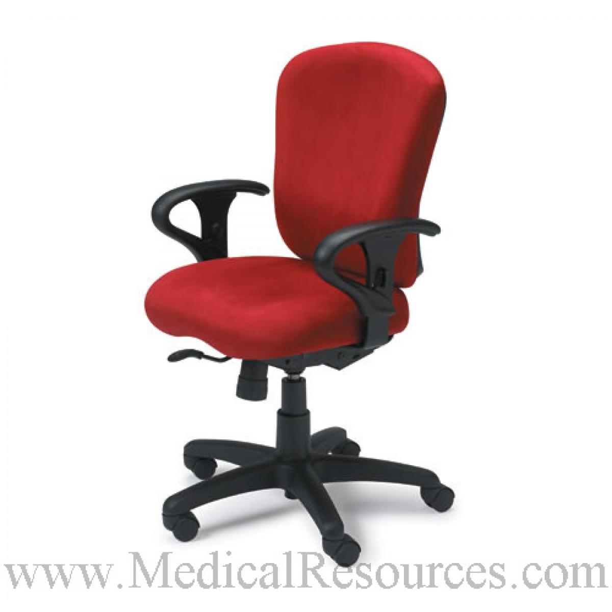 Ki S Impress Armless Task Chair In A Grade 2 Fabric 25 W X 18 D X 37 45 H