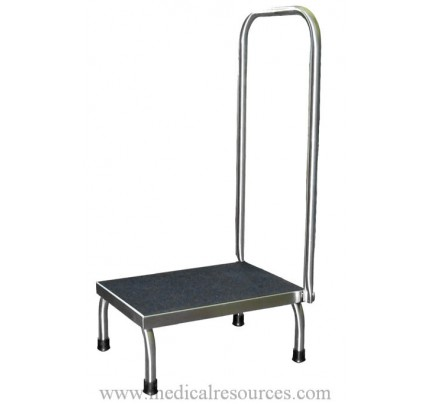 United Metal Fabricators SS8378 Stainless Steel One Step Foot Stool with Handrail  sc 1 st  Medical Resources & Step Stools islam-shia.org