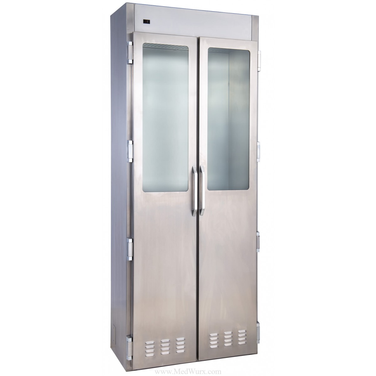 Medwurx stainless steel clean air ventilated flexible for Stainless steel cabinet door