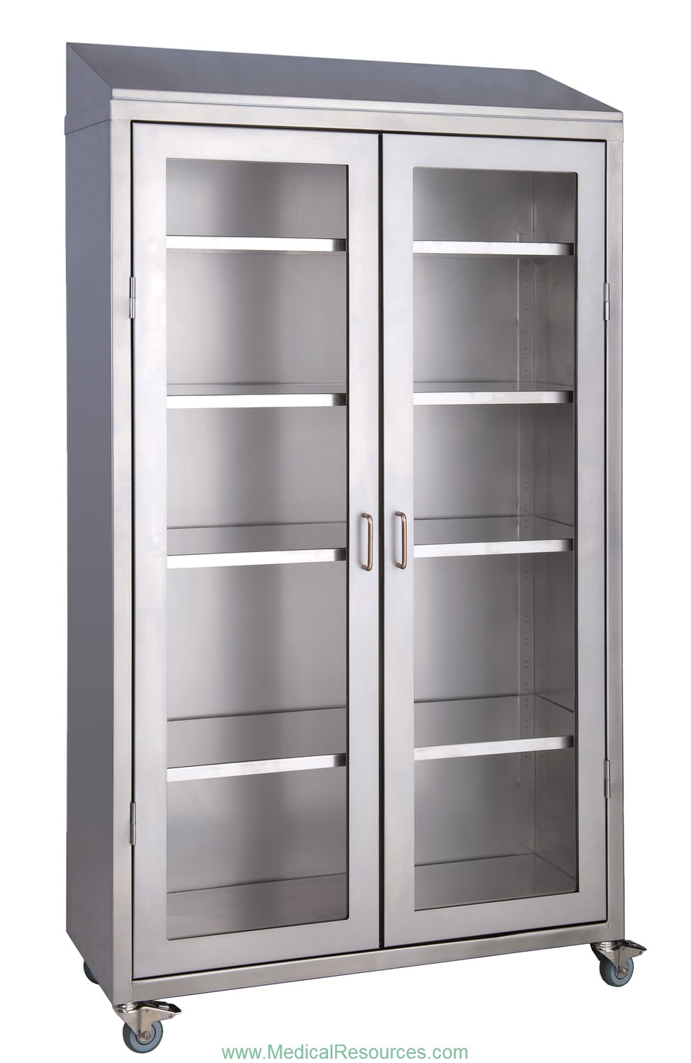 Medwurx mobile stainless steel instrument supply cabinets for Stainless steel cabinet door
